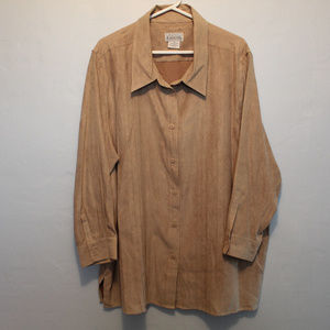 Basic Editions fawn colored Blouse 3X